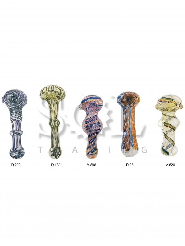 """4"""" Heavy Inside Out Handpipes - Pack of 12pcs"""