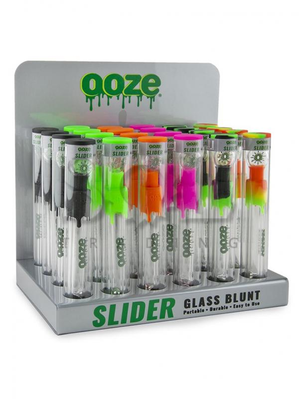 Ooze Slider Glass Blunt Display -24ct