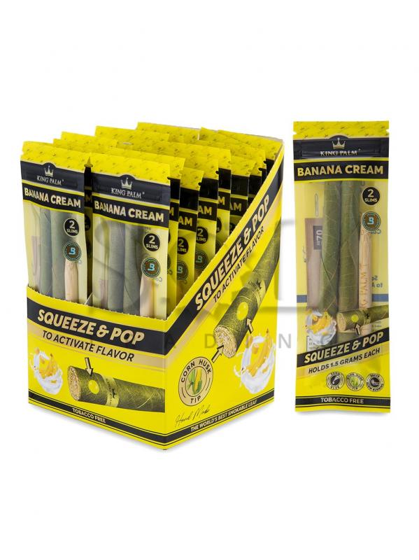 King Palm Slim 2pk Banana  - Display of 20
