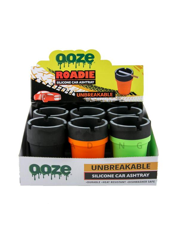 Ooze Roadie Silicone Car Ashtray - 6ct
